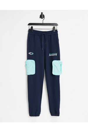 The Arcminute Arcminute jersey joggers in navy with patch pocket