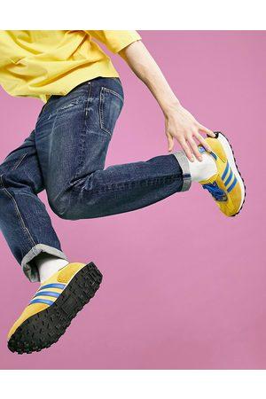 ASOS Straight crop jeans in dark blue Japanese wash
