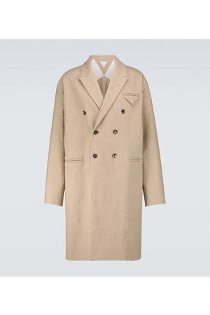 Bottega Veneta Zweireihiger Mantel aus Leinen