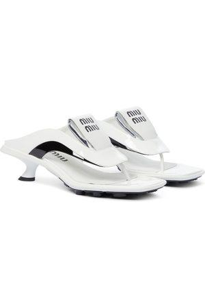 Miu Miu Sandalen aus Leder