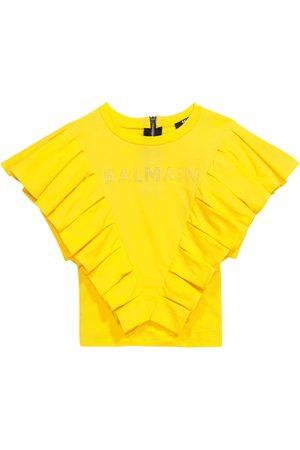 Balmain Kids Mädchen Shirts - T-Shirt aus Baumwolle