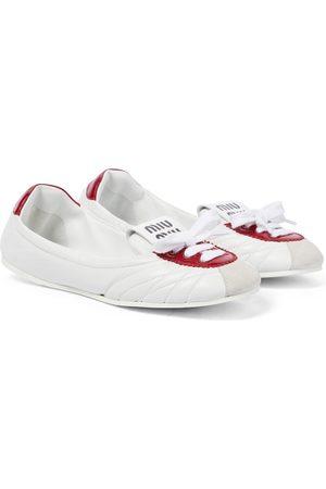 Miu Miu Sneaker-Ballerinas aus Leder