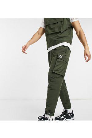 PUMA Avenir logo cargo pant in khaki exclusive to ASOS-Green