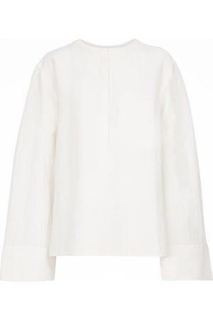 Totême Damen Lange Ärmel - Bluse aus einem Leinengemisch