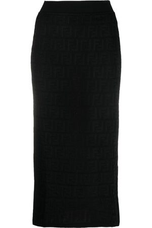 Fendi Monogram knitted midi skirt