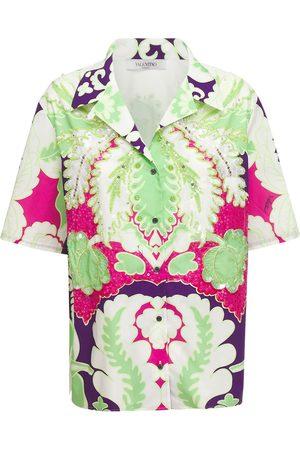 VALENTINO Damen Blusen - Besticktes Hemd Aus Baumwollpopeline