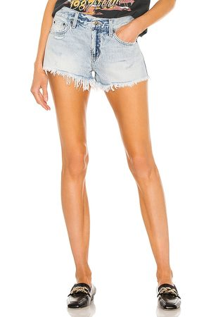 Pistola Gigi Low Rise Cut Off in - Blue. Size 24 (also in 25, 26, 27, 28, 29, 30, 31).