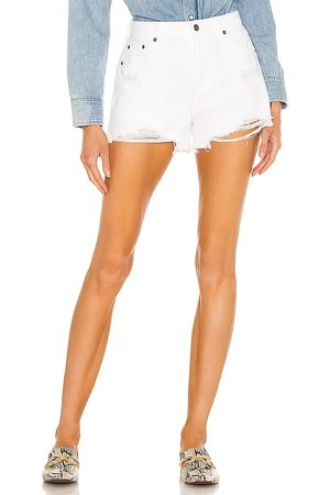 Pistola Nova High Rise Relaxed Cut Off in - White. Size 24 (also in 25, 26, 27, 28, 29, 30, 31).
