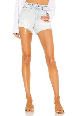 Pistola Kylee High Rise Relaxed Cuffed Short in - Blue. Size 24 (also in 25, 26, 27, 28, 29, 30, 31).