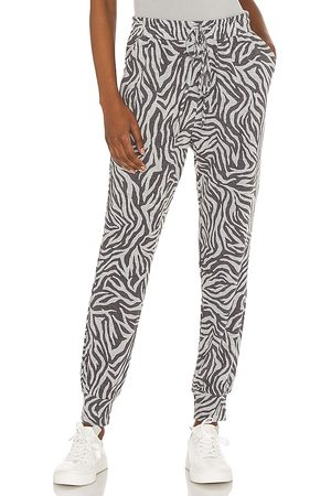 1. STATE Chic Zebra Jogger in - Grey. Size L (also in M, S, XL, XS, XXS).