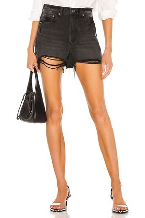 Pistola Maeve Super High Rise Cut Off in - Black. Size 24 (also in 25, 26, 27, 28, 29, 30, 31).