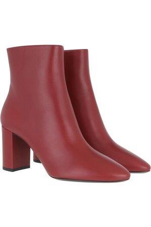 Saint Laurent Lou Pin Zip Bootie Leather - in - Boots & Stiefeletten für Damen