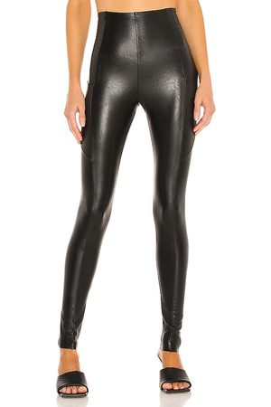 Commando Damen Leggings & Treggings - Faux Leather Pocket Legging in - . Size L (also in XS, S, M).
