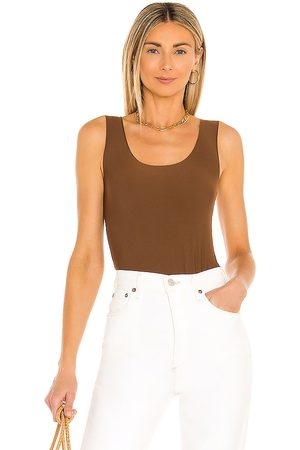 Commando Butter Tank Bodysuit in - Chocolate. Size L (also in XS, S, M).
