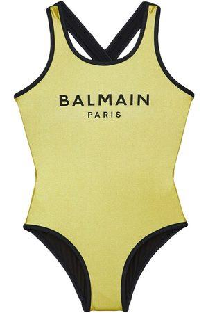 Balmain Badeanzug Mit Logodruck