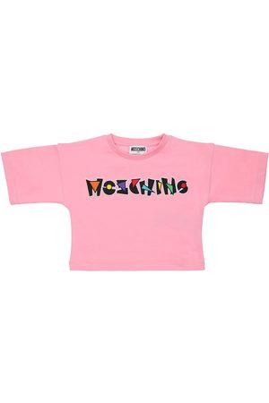 Moschino Damen Shirts - T-shirt Aus Baumwolljersey Mit Logodruck