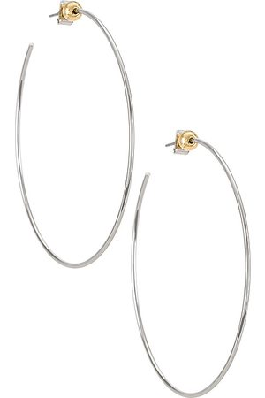 Jenny Icon Hoops in - Metallic . Size all.