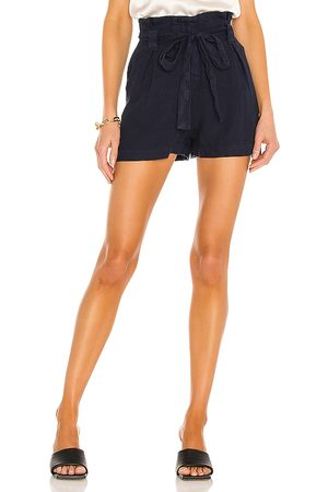 L'Agence Hillary Paperbag Shorts in - Navy. Size 23 (also in 24, 25, 26, 27, 28, 29, 30).
