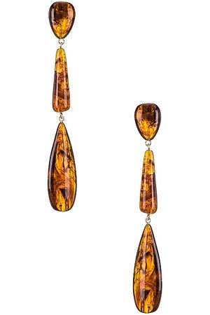 VALET Gemma Dangle Earrings in - Brown. Size all.
