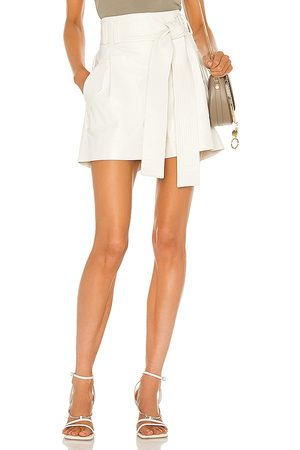 AMUR Lisette Shorts in - White. Size L (also in XS, S, M).