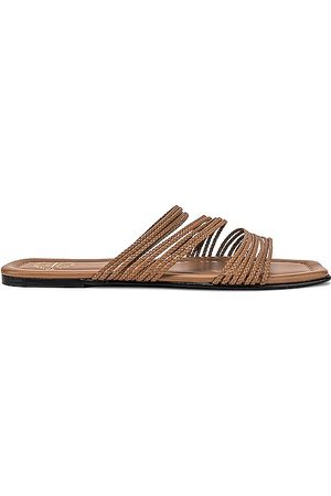 ATP Atelier Carapelle Nappa Slides in - Taupe. Size 36 (also in 37, 38, 39, 40).