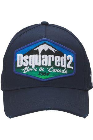 DSQUARED2 Herren Hüte - Baseballkappe Aus Baumwollgabardine Mit Logopatch