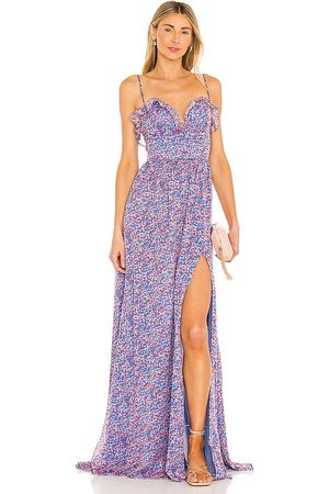 Sau Lee Florence Gown in - Blue. Size 0 (also in 2, 4, 6, 8).