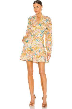 Rebecca Vallance Damen Kleider - Ottoman Long Sleeve Mini Dress in - Orange,Pink. Size 10/M (also in 8/S, 6/XS, 12/L).