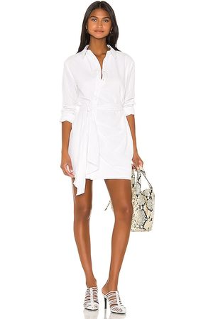 L'Academie August Shirt Dress in - White. Size L (also in XS, S, M, XL).