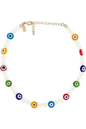 8 Other Reasons Damen Halsketten - Beaded Evil Eye Choker Necklace in - White. Size all.