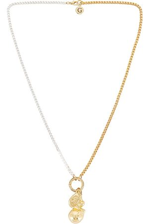 GOLDMINE Damen Halsketten - Over the Moon Necklace in - Metallic . Size all.