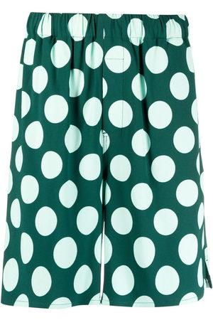 Ami Herren Shorts - Polka dot Bermuda shorts