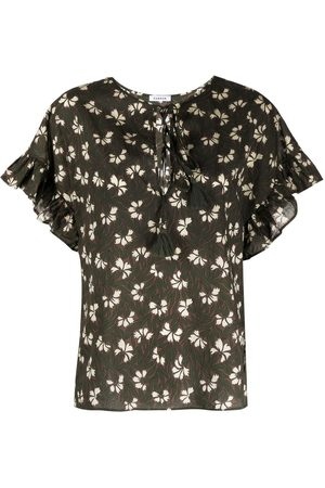 P.a.r.o.s.h. Floral-print short-sleeved blouse