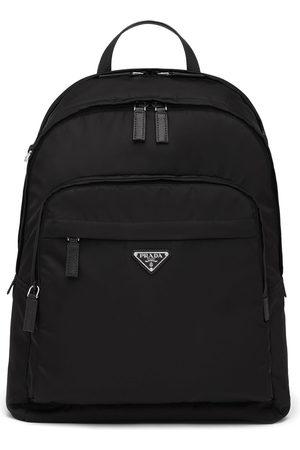 Prada Re-Nylon logo-plaque backpack
