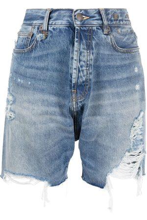R13 Raw-cut denim shorts
