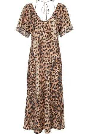 Victoria Beckham Damen Bedruckte Kleider - Bedrucktes Midikleid