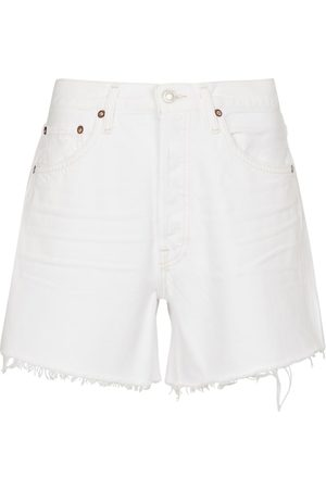 AGOLDE Damen High Waisted - Mid-Rise Jeansshorts Parker