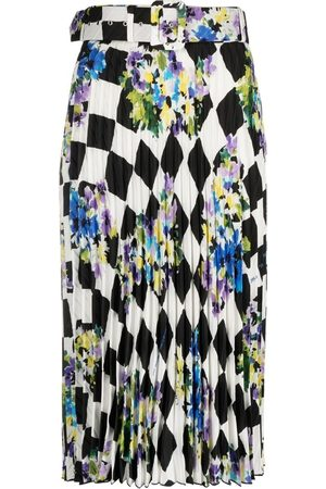OFF-WHITE Damen Bedruckte Röcke - Check plisse printed skirt