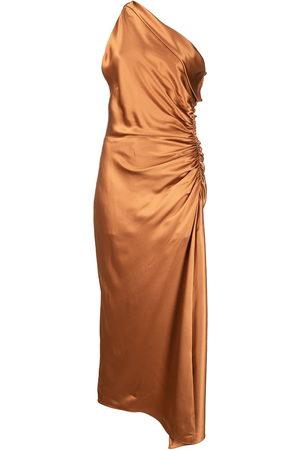 Michelle Mason Damen Asymmetrische Kleider - One-shoulder silk dress