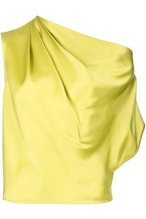 Michelle Mason Asymmetric drape silk blouse