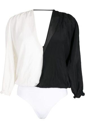 Brigitte Silk wrap bodysuit