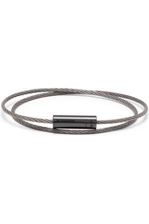Le Gramme 7g polished double cable bracelet