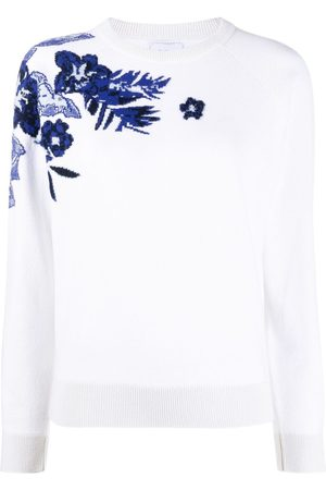 Barrie Floral intarsia knit jumper
