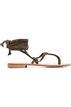 P.a.r.o.s.h. Tie-strap suede sandals