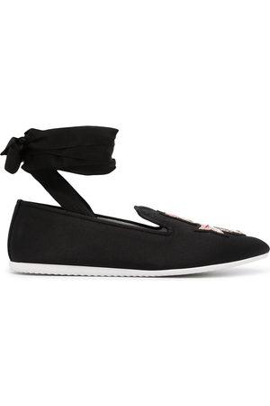 JOSHUA SANDERS Crest ankle-tie loafers