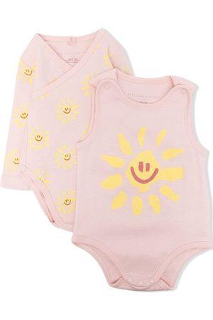 Stella McCartney Two-pack Happy Sun-print bodies