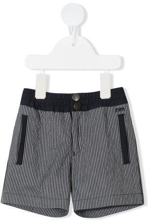 Emporio Armani Elasticated-waist striped shorts