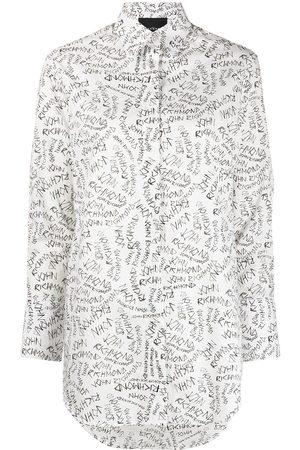 John Richmond Logo-print long-sleeve shirt
