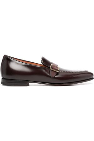 santoni Herren Halbschuhe - Buckle-strap leather loafers