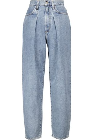 Goldsign High-Rise Jeans The Pleat Curved